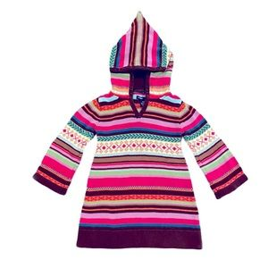 Baby Gap Sweater Dress Multicolor Hooded Girl 3T